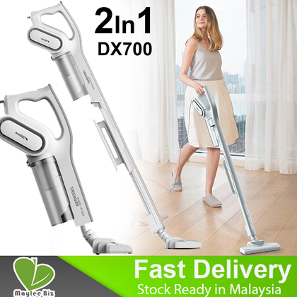 Deerma DX700 2 in 1 Portable Handheld Cleaner Vacuum Strong Suction Hepa Filter Sweeper Side Spin Super Low Noice