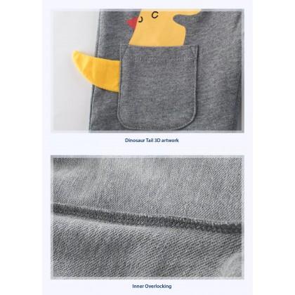 Kids Pants for 1-10 Years Boys Girls Children Cotton Cute 3D Dinosaur Cartoon Clothes Clothing Short Summer Pant Sleeve