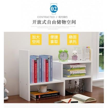 Desk Small Office Table Bookshelf Shelf Telescopic Computer Desk Small Bookcase Office Storage Rack Simple Rak Buku